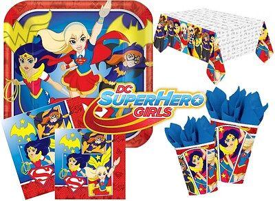 DC HEROES Girls Superhero Party Supplies Complete Kits For 8 16 24 32 40 - Girls Superhero Party Supplies