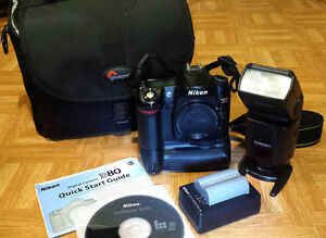 Nikon D80 with accessories