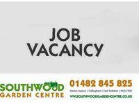 Garden Centre staff Vacancy