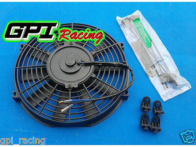"9"" inch Universal Electric Radiator RACING COOLING Fan + mounting kit NEW"
