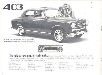 1963 Peugeot 403 404 Sales Brochure mw7941-TZRH8K