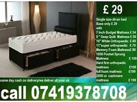 Single / Double / King Size Bed Divan base with Mattress