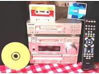 Sony Music Centre Mini Disc Hi-Fi DHC-MD373 System + CD + Cassette + Remote ex cond -No speakers