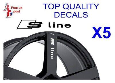 Audi Sport Premium Quality! 10 Year Cast Vinyl Decals Stickers x 4 35mm x 19mm