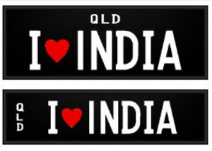 Personalised Plate for Sale (QLD) -  I Love INDIA Birkdale Redland Area Preview