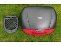 Givi E450 Simply II Monolock Motorbike Top Box with Plate