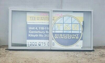 Aluminium Awning Window 1290H x 2635W (Item 4925) Silver