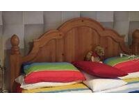 Super king bed frame four poster pine