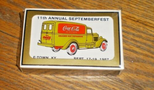 SEALED COCA-COLA 1987 11TH ANNUAL SEPTEMBERFEST, E-TOWN, KY PLAYING CARDS