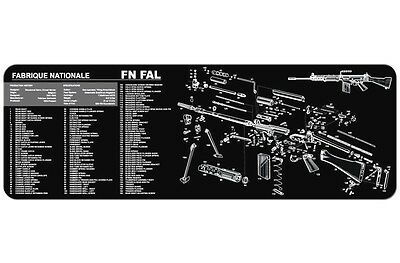 Fn Fal Armorers Gun Cleaning Bench Mat W/exploded View Schematic Parts List