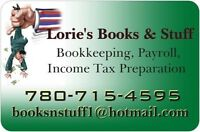 Lorie's Books & Stuff Inc.Bookkeeping, Payroll, Income Tax Prep.