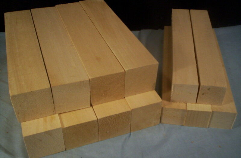 13 Piece Basswood Carving Turning Lumber Stock