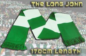 NEW-Retro-Long-John-Green-White-HIBERNIAN-F-C-Football-Bar-Scarf-FREE-P-P