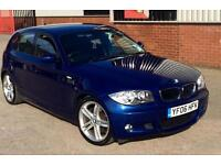 2006 06 BMW 130I M SPORT LE MANS BLUE 6 SPEED MANUAL E87 5 DR