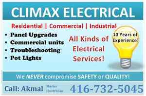 Climax Electrical Services:   (416-732-5045)
