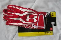 Under Armour UA F3 football receiver gloves - adult large - new