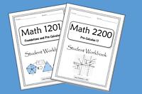 Math 1201 and 2200 Workbooks for Students