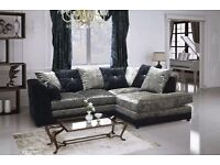 *SALE* BRAND NEW FACTORY SEALED - CRUSHED VELVET DYLAN CORNER SOFA or 3+2 SOFA £399.99