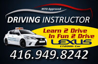 Driving lessons for G2 and G road test / driving instructor