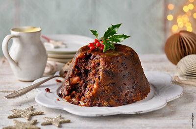 Traditional British Hand-made Christmas Plum Pudding 1 Lb. Earthenware Basin