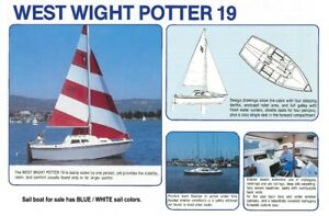 SAILBOAT, WEST WIGHT POTTER 19, EX COND, ONE OWNER, 19 FEET