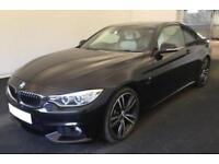 2015 BLACK BMW 430D 3.0 M SPORT DIESEL AUTO 2DR COUPE CAR FINANCE FR £79 PW