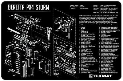 Tek Mat For Beretta PX4 Storm 9MM .40 45ACP  Armorers Gun Cleaning Bench Mat