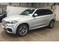 2016 SILVER BMW X5 3.0 XDRIVE40D M SPORT 7 SEAT DIESEL 4X4 CAR FINANCE FR £138PW