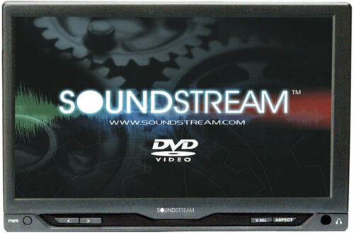 "SOUNDSTREAM VHR-72IR UNIVERSAL 7"" HEADREST MONITOR 2 A/V INPUTS LED LCD SHROUD"