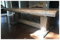 Barn Door Furniture custom handcrafted wood harvest tables/sets