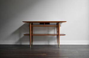 #25 - Mid Century Teak Console Table by Lane