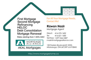 Mortgage, Pre-approval, Refinance, Renewal, Home Equity LOC