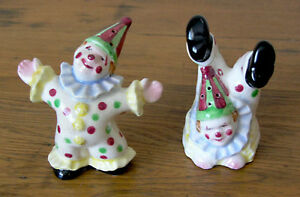 Carnival Clown Salt and Pepper Shaker Set