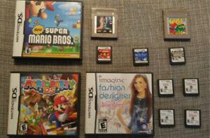 Jeux portables Nintendo DS et gameboy. prix variés