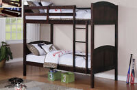 Twin / Twin Espresso Bunk Bed