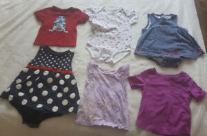 12-24 month baby girl onesies, dresses and shirts