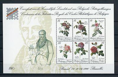 BELGIEN BL 61 BELGICA BLOCK ROSEN 1990 ME 38 130676