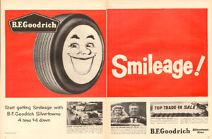 1958 2-page (20 ½ x 14) magazine ad for B.F. Goodrich Tires