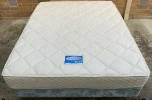 Good condition Sleep Maker Brand queen mattress with base for sale #10