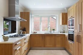 Solid Oak Kitchen for sale with or without Appliances
