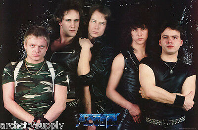 POSTER: MUSIC : ACCEPT - ALL 6 POSED  -  FREE SHIPPING    RW5 N