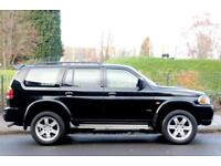 2004 54 Mitsubishi Shogun Sport 2.5 TD Warrior 5dr, Black, Leather Seats