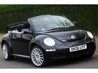 Volkswagen Beetle 1.6 Luna Cabriolet Convertible 2dr, Black, 72k Mileage