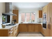 Ex Display Cream / White Gloss Kitchen Complete With Appliances For Sale