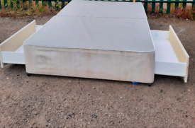 Double bed with drawers (delivery available