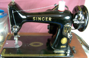 99K SINGER ALL METAL SEWING MACHINE WITH ATTACHMENTS & CASE