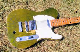 Status Quo -- Francis Rossi Replica Green Telecaster Guitar