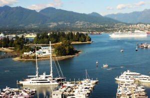 Spectacular Stanley Park, Ocean, Marina and Mountains Views