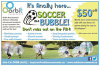 Birthday Party or Special Event?  Why not try BUBBLE SOCCER?