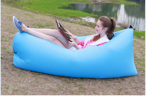 Outdoor Portable Inflatable Lounger Beach Lazy Sofa Air Sleeping